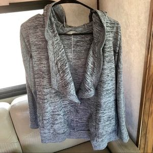 Athleta Tops - Athleta Bliss Open Front Waterfall Cardigan Hoodie